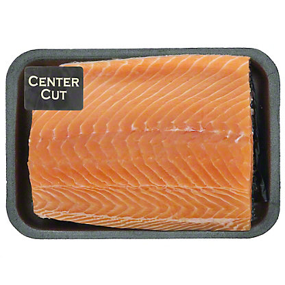 Fresh Atlantic Salmon Center Cut Tray Pack, Farm Raised